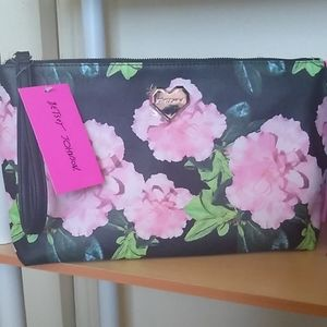 Large New Betsy Johnson Makeup Travel Bag